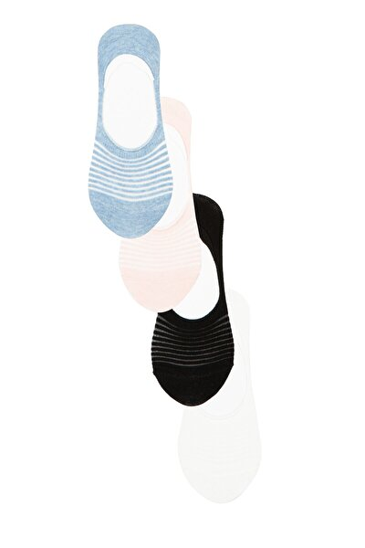Çok Renkli Invısıble 4Lü Babet Çorap