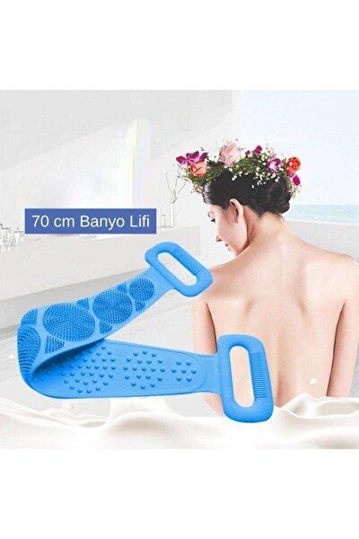 70 Cm Silikon Sırt Kesesi Sırt Keseleme Fırçası Banyo Duş Lifi Banyo Sırt Kesesi Çift Taraflı 70 Cm