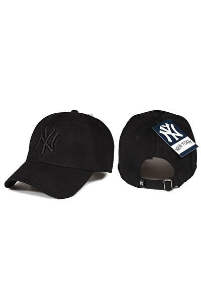 Yankee Ny Nakışlı Baseball Şapka Siyah