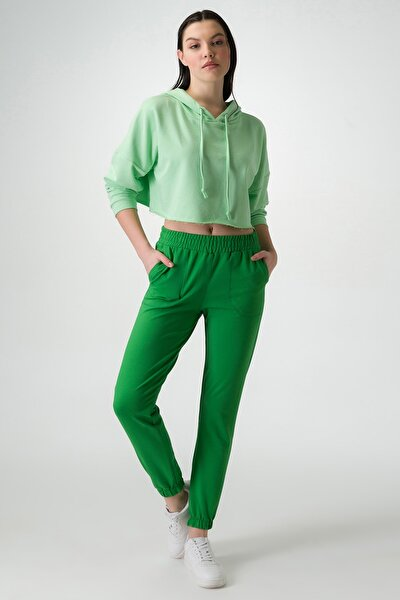 Kadın Yeşil Eşofman Altı 22055