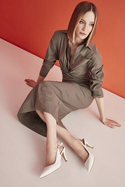 Beyaz Kadın Klasik Topuklu Ayakkabı 01AYY205520A900