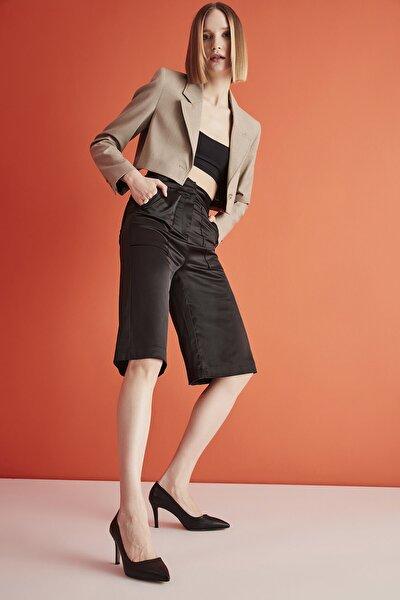 Siyah Kadın Klasik Topuklu Ayakkabı 01AYY205550A100