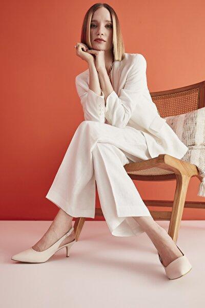 Bej Kadın Klasik Topuklu Ayakkabı 01AYH205370A310
