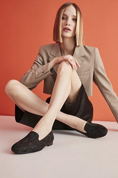 Siyah Kadın Loafer Ayakkabı 01AYY206020A100