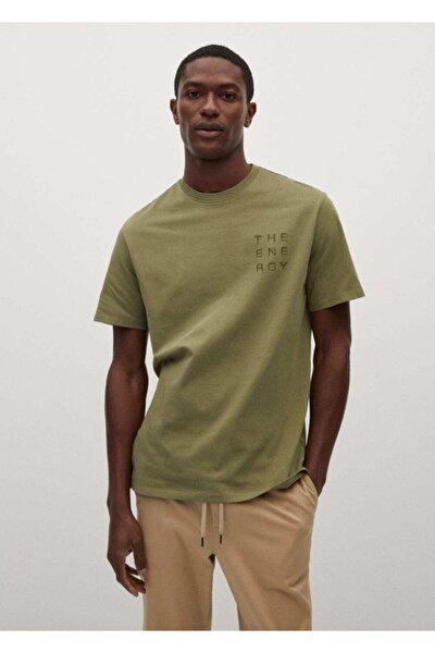 Yazı Işlemeli Pamuklu Tişört