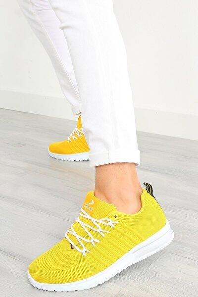 Erkek Sarı Bağcıklı Spor Ayakkabı