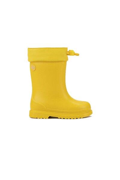 W10100 Chufo Cuello-008 Sarı Unisex Çocuk Yağmur Çizmesi 100386307