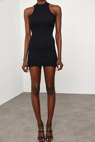 Kadın Siyah Kolsuz Kaşkorse Elbise 1KZK6-11609-02