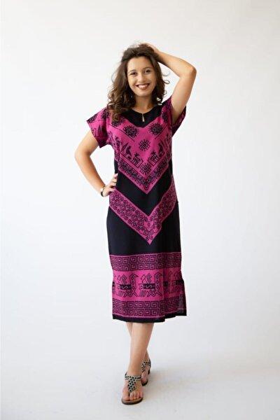 Elbise Otantik Yöresel El Baskısı Batikli