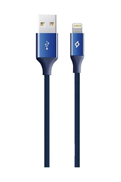 Alumicable Örgü Iphone Şarj Kablosu-lacivert-120cm Lightning