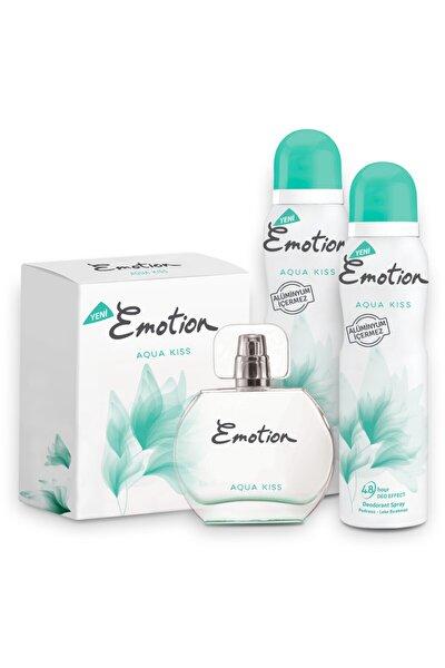 Aqua Kiss Edt 50 ml Kadın Parfüm + 2x150 ml Deodorant Set 1742751043393