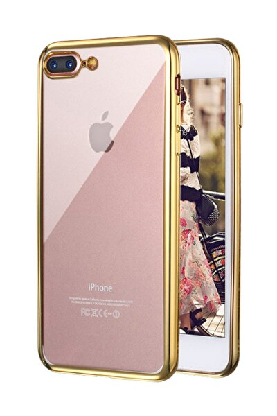 Apple iPhone 7 Plus Kılıf Flexi Delux Gold