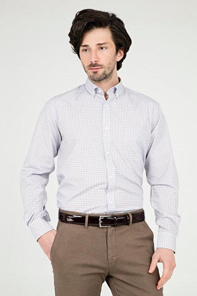 Erkek Bej Uzun Kollu Gömlek - 1Gm91Uk1266R 860