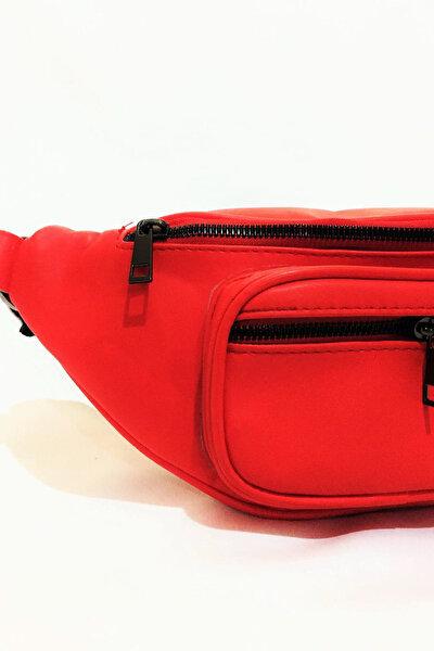 Marka Kadın Kırmızı Rengi Deri Bel Çantası Xybdr59