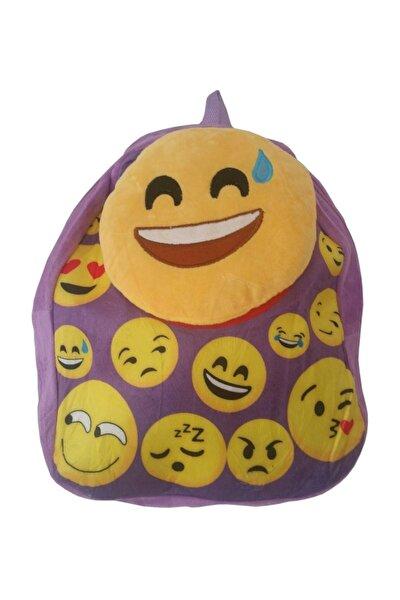 Emoji  Peluş Çanta Mor