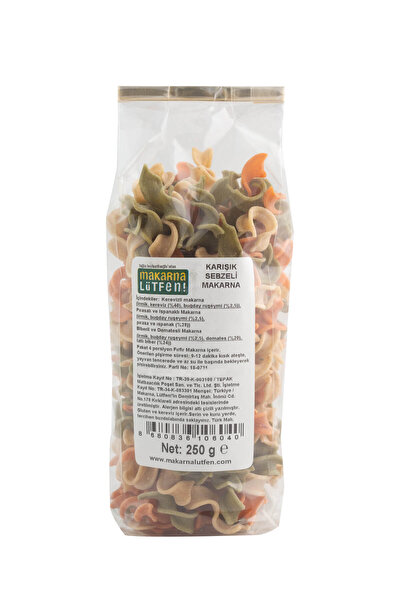Karışık Sebzeli Makarna 250 g