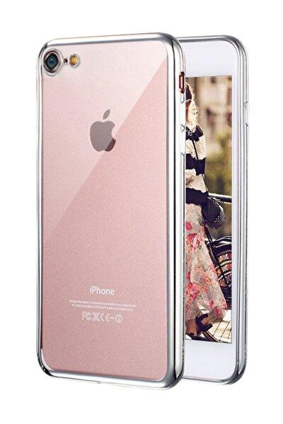 Apple iPhone 8 Kılıf Flexi Delux Gümüş