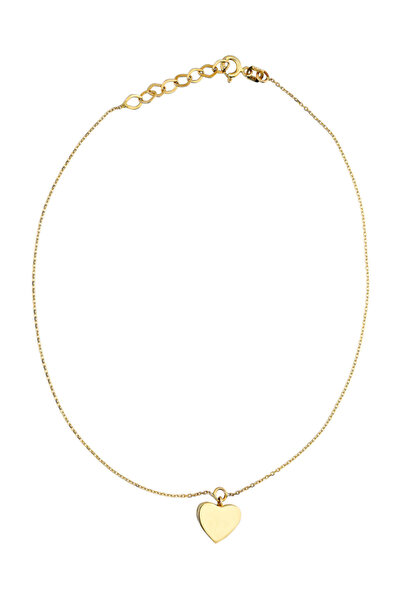 Kadın Altın Kalp Halhal CM0613