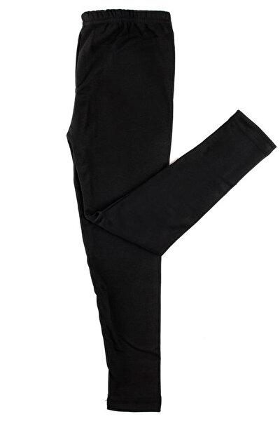 Çocuk Siyah Uzun Viskon Şardonlu Alt İçlik Termal Giyim & İçlik