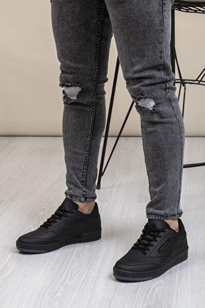 Siyah Cilt Unisex Sneaker TB107-0