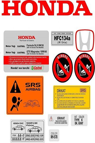 Honda Civic Ies Etiket Takımı