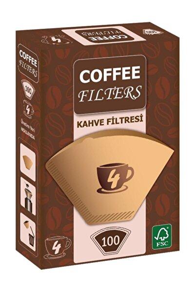 Coffee Filters Filtre Kahve Kağıdı 1/4 4 Numara 100'lü Paket