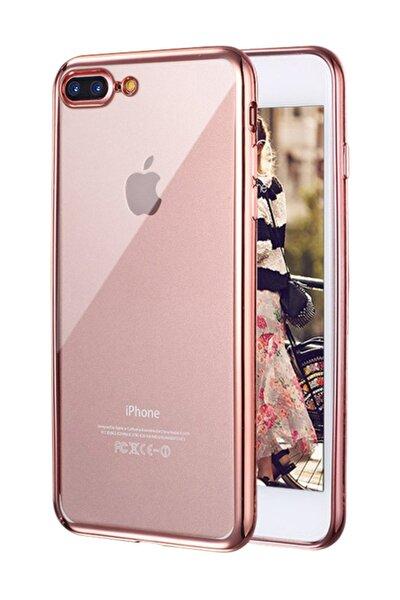 Apple iPhone 8 Plus Kılıf Flexi Delux Rose Gold