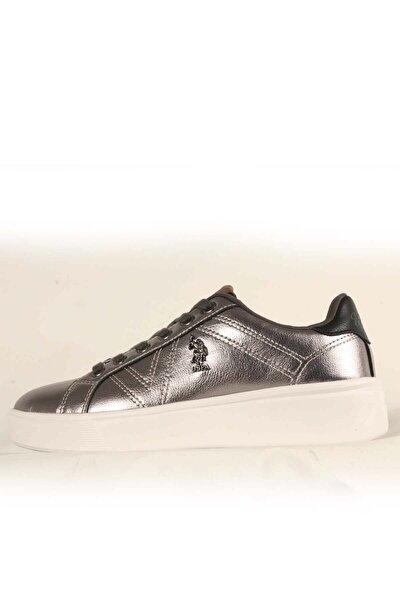 Us Polo Extra Kadın Günlük Spor Ayakkabı 100551351gumus