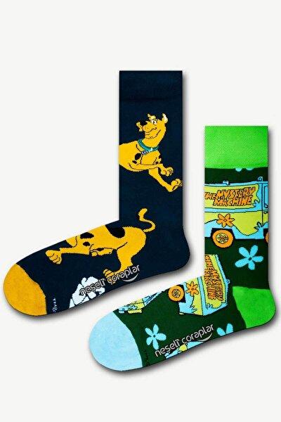 2'li Scooby Doo Renkli Çorap Set