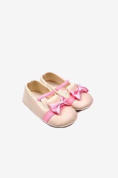 Papyonlu Lastikli Bebek Ayakkabısı