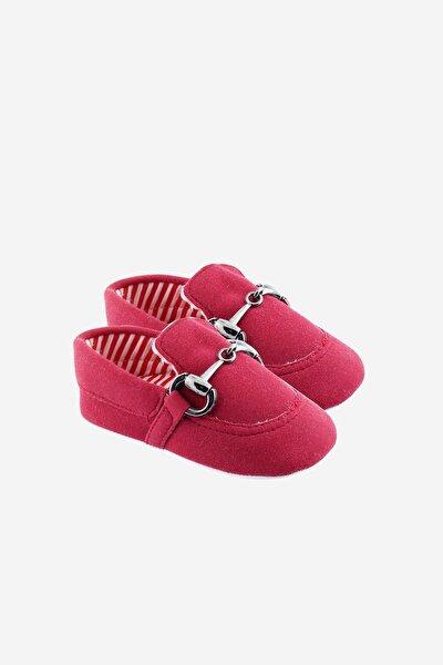 Damatlık Tokalı Bebek Ayakkabısı