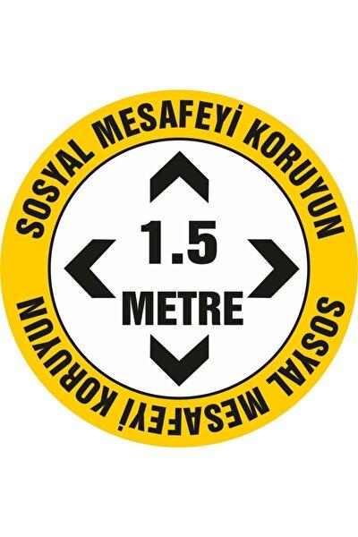 Sosyal Mesafe Etiketi Stecker Folyo Yapıştırma 20x20 ( 10 Adet)