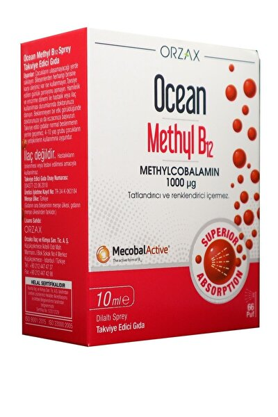 Ocean Methyl B12 1000 Mg 10 Ml Dilaltı Sprey / 66 Doz