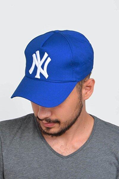 Erkek Lacivert New York Ny Nakışlı Şapka