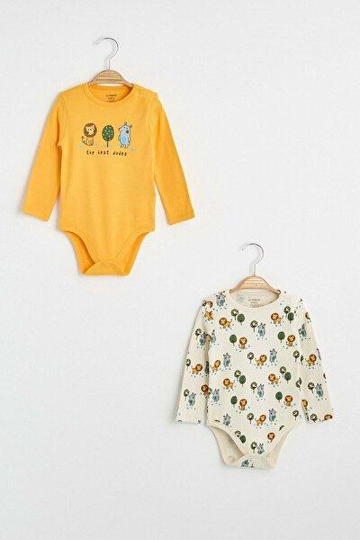 Erkek Bebek Açık Turuncu G9W Bebek Body & Zıbın