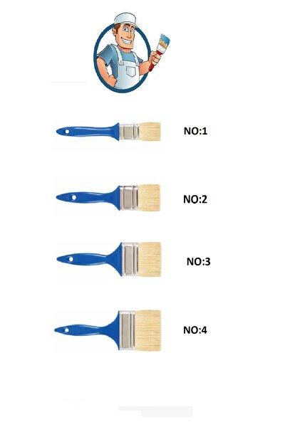 4 Adet Kestirme Fırça Set - No 1 - 2- 3 - 4