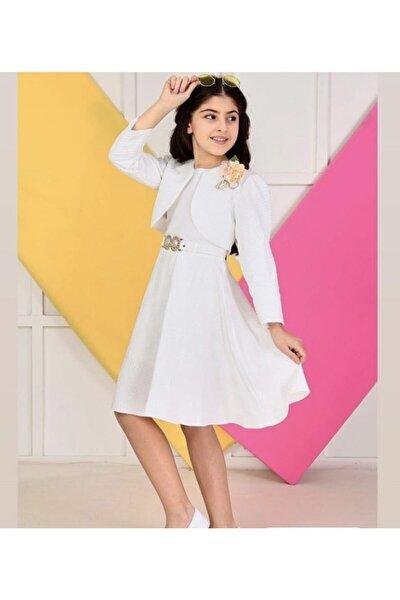 Kız Çocuk Bolerolu Elbise