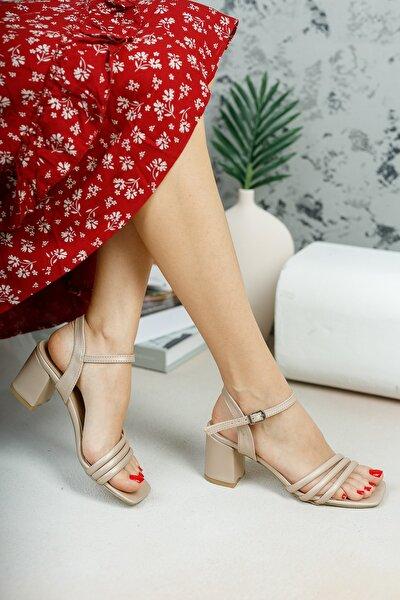 Bronz Biyeli Sandalet