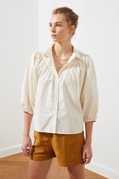 Beyaz Balon Kollu Gömlek TWOAW21GO0353