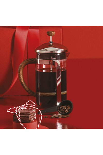 Coffee Bean French Press Wooden 600 ml