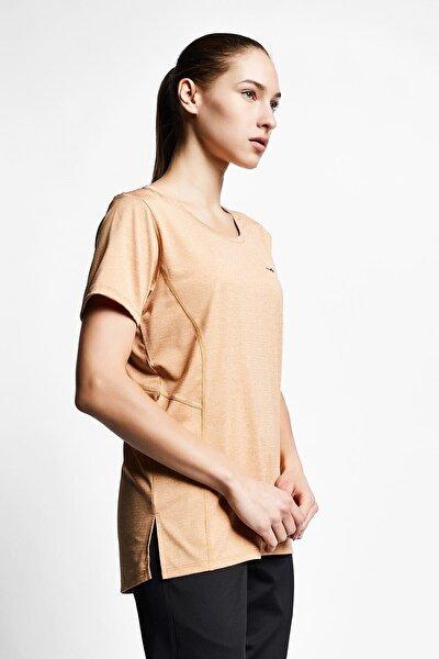 Kadın Karamel Kısa Kollu T-shirt