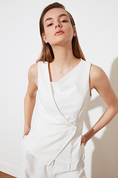 Beyaz Kolsuz Bluz TWOSS20BZ0529
