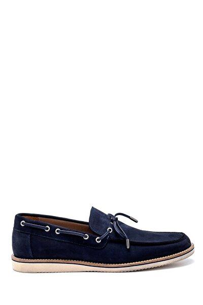 Erkek Lacivert Nubuk Loafer Ayakkabı