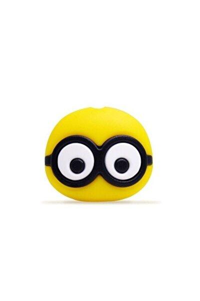 Kablo Koruyucu Sevimli Karakter Sarı Gözlük