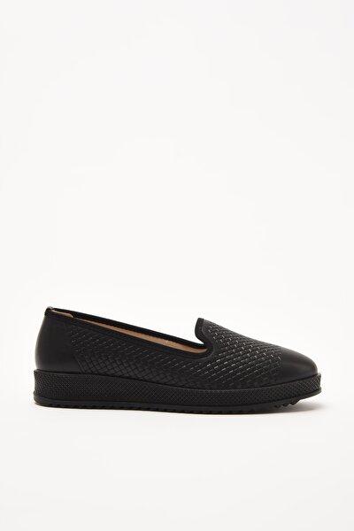 Siyah Kadın Loafer Ayakkabı 01AYY208910A100