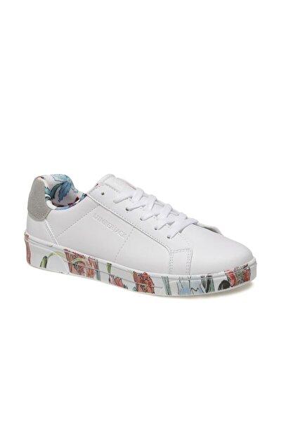 DELBIN 1FX Beyaz Kadın Havuz Taban Sneaker 100933280