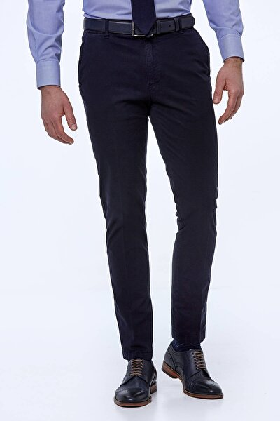 Erkek Lacivert Yazlık Chino Pantolon