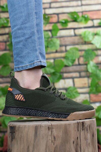 Unisex  Haki Siyah Sneaker 0012430