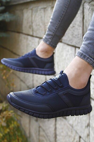 Erkek Lacivert Bağcıksız Hafif Günlük Sneaker