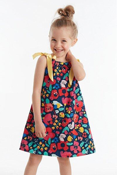 Bahar Çiçekli Kız Elbise